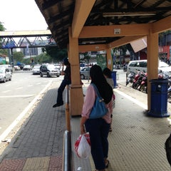 Photo taken at Carrefour Bus Stop by KA T. on 5/12/2013
