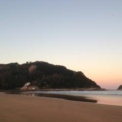 Photo taken at Playa de Zarautz by Alberto O. on 12/23/2012