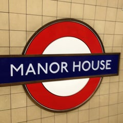 Photo taken at Manor House London Underground Station by Alexander N. on 5/31/2013