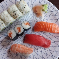 Photo taken at Sushi Avenue on the Square by Jerome R. on 9/1/2013