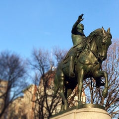 Photo taken at George Washington Statue by Emily L. on 2/24/2014