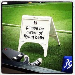 Photo taken at Craven Cottage by Charlie H. on 5/12/2013