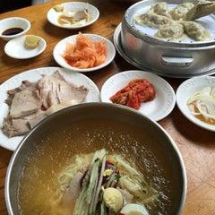 Photo taken at 관촌밀면 by J. P. on 8/12/2015
