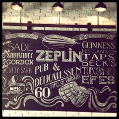 Photo taken at Zeplin Pub & Delicatessen by Burak K. on 5/22/2013