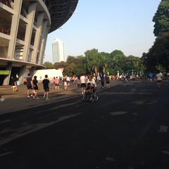 Photo taken at Kompleks Gelora Bung Karno by Faharuddin S. on 11/1/2013