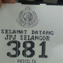Photo taken at Jabatan Pengangkutan Jalan (JPJ) by Hana N. on 5/30/2013