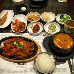 Photo taken at BCD Tofu House by Mike L. on 2/25/2015