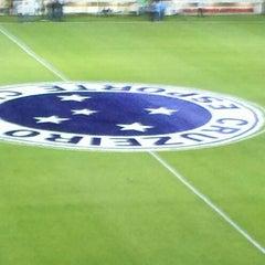 Photo taken at Estádio Joaquim Henrique Nogueira (Arena do Jacaré) - Democrata Futebol Clube by Joao N. on 6/5/2013