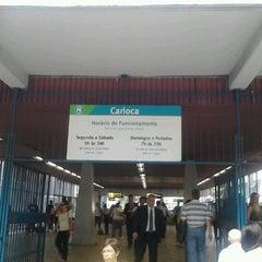 Photo taken at MetrôRio - Estação Carioca by Gabriel S. on 1/8/2013