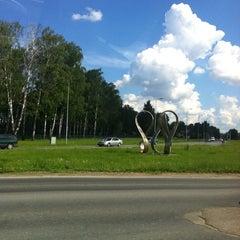 "Photo taken at ""Rīgai - 800"" piemineklis | Monument of ""Riga - 800"" by Ratthazart H. on 12/25/2013"