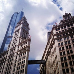 Photo taken at Wrigley Building by Monet Q. on 6/28/2013