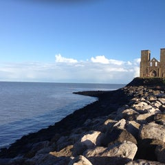 Photo taken at Reculver Towers and Roman Fort by Evgenij Z. on 12/25/2013