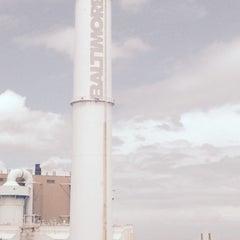 Photo taken at Baltimore BRESCO Smokestack / Wheelabrator Incinerator by Abdullah Yilmaz T. on 7/8/2015