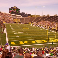 Photo taken at Autzen Stadium by Chris T. on 4/27/2013