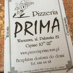 Photo taken at Pizzeria Prima by Kathy F. on 6/15/2014