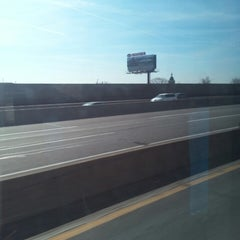 Photo taken at NJ Turnpike Exit 14 by Mark K. on 3/8/2014