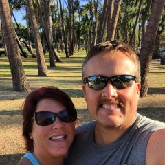 Photo taken at Kaimana Beach Park by Christina B. on 7/2/2015