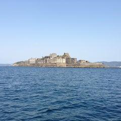 Photo taken at 端島 (軍艦島) Hashima (Gunkanjima) Island by Katsuya M. on 4/13/2013