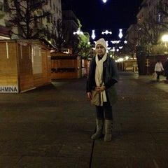 Photo taken at Place Cornavin by Niloufar K. on 12/23/2013