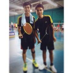 Photo taken at CC Badminton Court by Cherdsak Y. on 2/4/2014