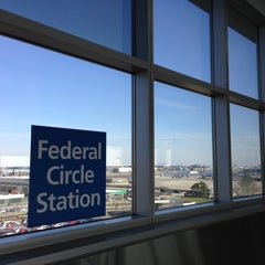 Photo taken at JFK AirTrain - Federal Circle Station by Masashi S. on 4/25/2013