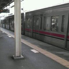 Photo taken at 柴崎駅 (Shibasaki Sta.) (KO15) by たまてん on 7/5/2013