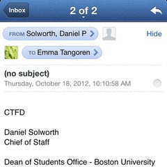 Photo taken at Boston University Dean of Students Office by emma t. on 10/18/2012