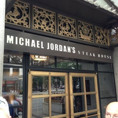 Photo taken at Michael Jordan's Steak House Chicago by Jason H. on 9/8/2013