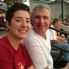 Photo taken at Farrington Stadium by Laura C. on 2/15/2014