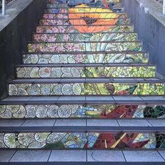 Photo taken at Hidden Garden Mosaic Steps by Darcie F. on 2/1/2016