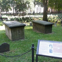 Photo taken at Granary Burying Ground by steve o. on 8/27/2013