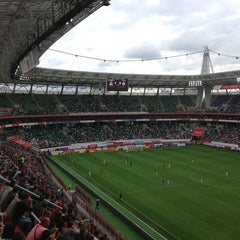 Photo taken at Стадион «Локомотив» by Mikhail K. on 7/28/2013