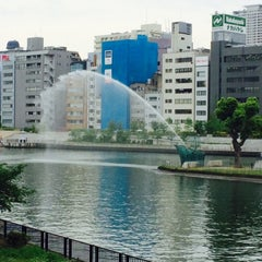 Photo taken at 天神橋 by Yukihiro Y. on 5/9/2015