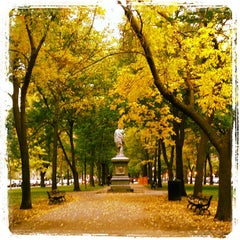 Photo taken at Commonwealth Avenue Mall by Jennifer D. on 10/19/2012