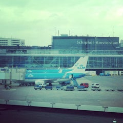 Photo taken at Amsterdam Airport Schiphol (AMS) by Jonathan Z. on 5/8/2013