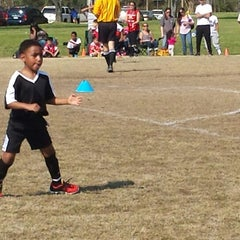 Photo taken at Lake Taylor Soccer Field by Lavonne P. on 4/12/2014