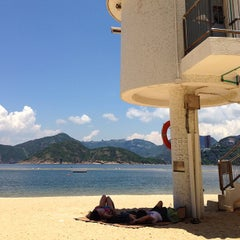 Photo taken at South Bay Beach 南灣泳灘 by Chi Y. on 7/14/2013
