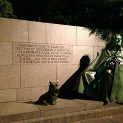 Photo taken at Franklin Delano Roosevelt Memorial by M & M. on 7/5/2013