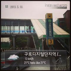 Photo taken at 구로디지털단지역 (Guro Digital Complex Stn.) by Wonbae J. on 5/18/2013
