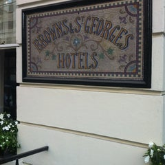 Photo taken at Brown's Hotel by Scott D. on 7/9/2013