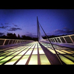 Photo taken at Sundial Bridge at Turtle Bay Exploration Park by Chason W. on 11/10/2012