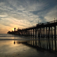 Photo taken at Oceanside Pier by Misha S. on 11/27/2012