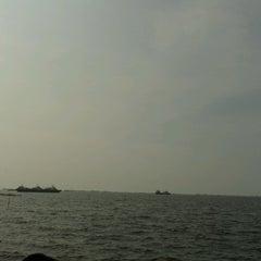 Photo taken at Pantai Marunda by Ichwan on 8/11/2013