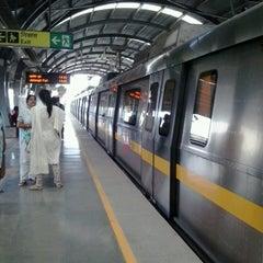 Photo taken at Qutab Minar Metro Station by Avijit C. on 6/14/2013