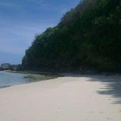 Photo taken at Pantai Pandawa (Pandawa Beach) by Bender on 5/24/2014