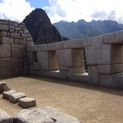 Photo taken at Templo de las Tres Ventanas by Márcio R. on 9/2/2015