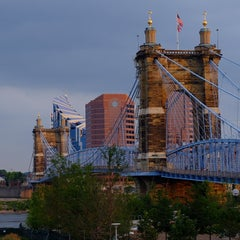 Photo taken at John A. Roebling Suspension Bridge by Tony M. on 7/24/2014