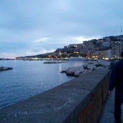 Photo taken at Lungomare di Napoli by Valerio T. on 11/3/2012