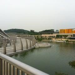 Photo taken at Bridge @ Punggol Walk by Mark H. on 10/4/2012