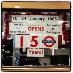Photo taken at Farringdon London Underground Station by Matteo S. on 1/7/2013